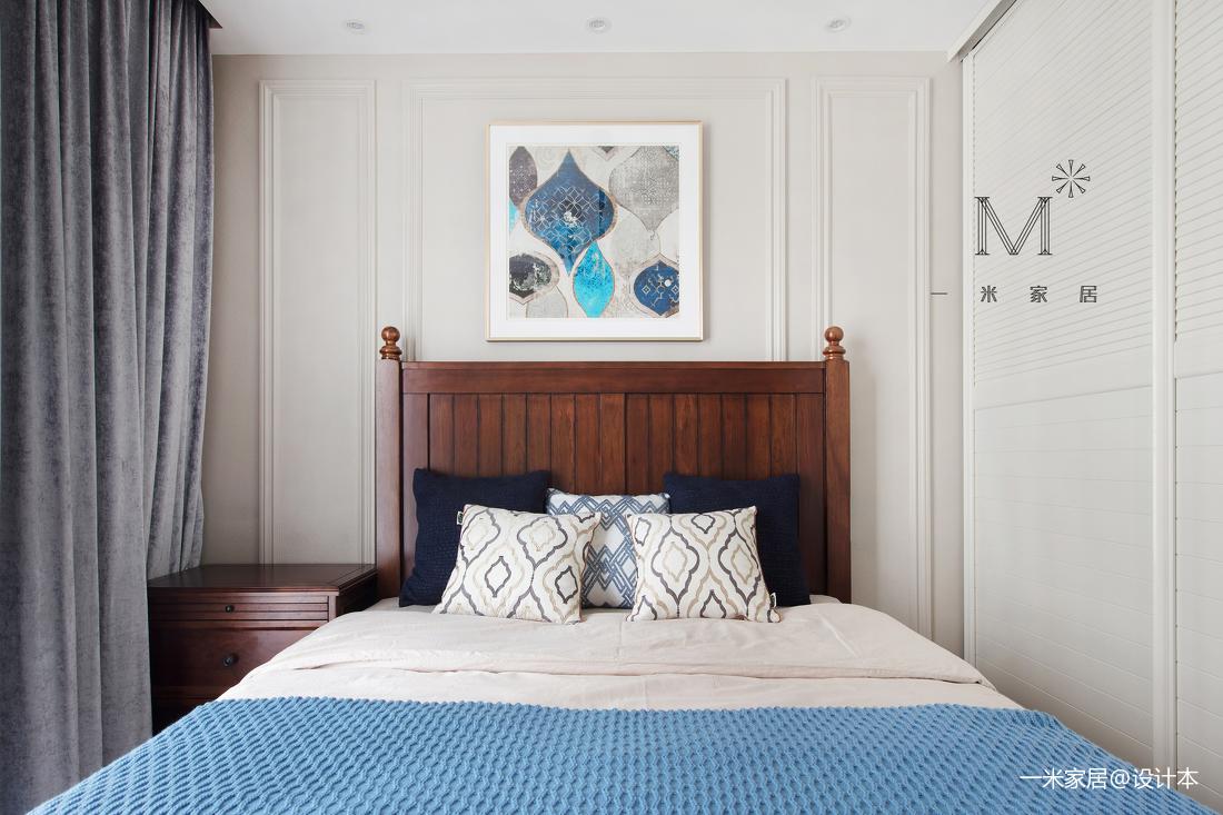 优美160平美式四居卧室设计效果图