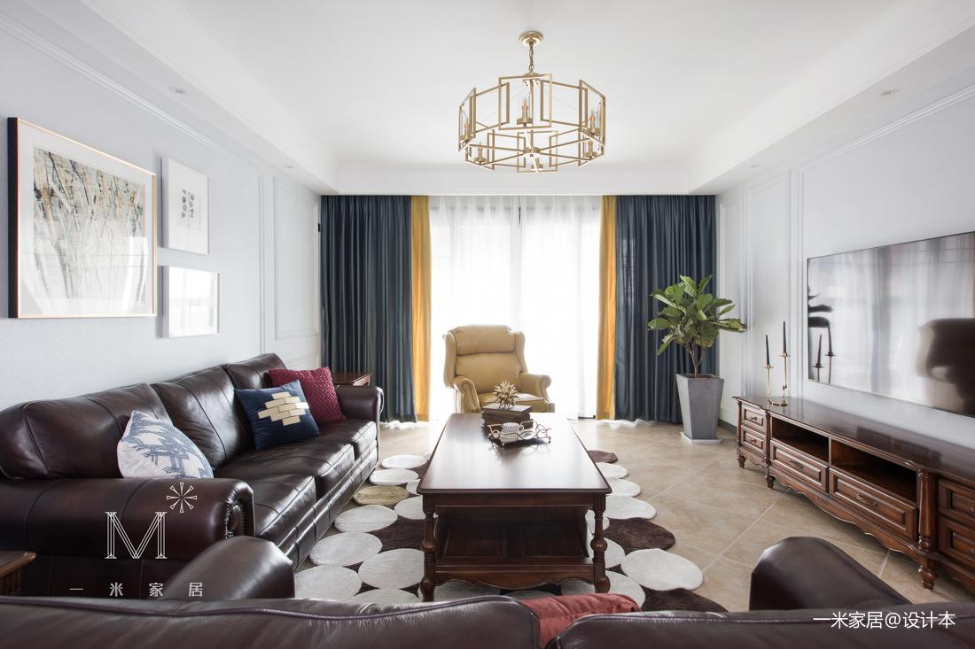 轻奢142平美式四居客厅设计图