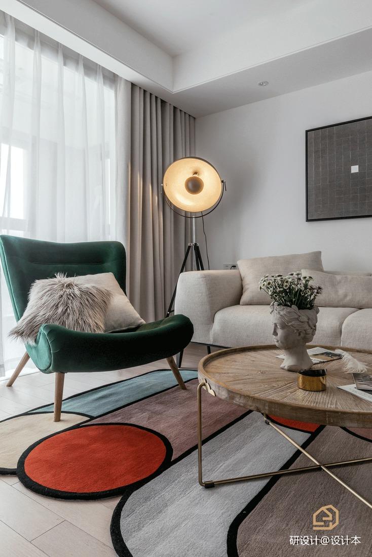 优美55平北欧二居客厅实景图片