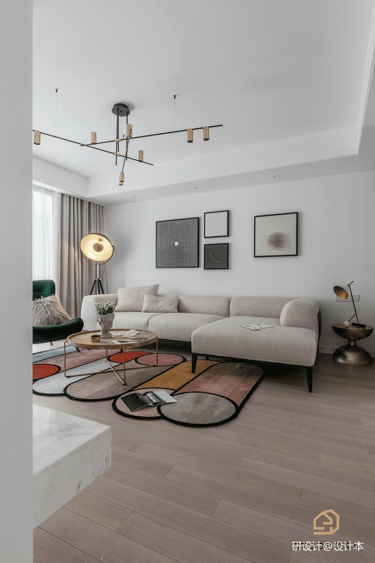201983平北欧二居客厅实拍图