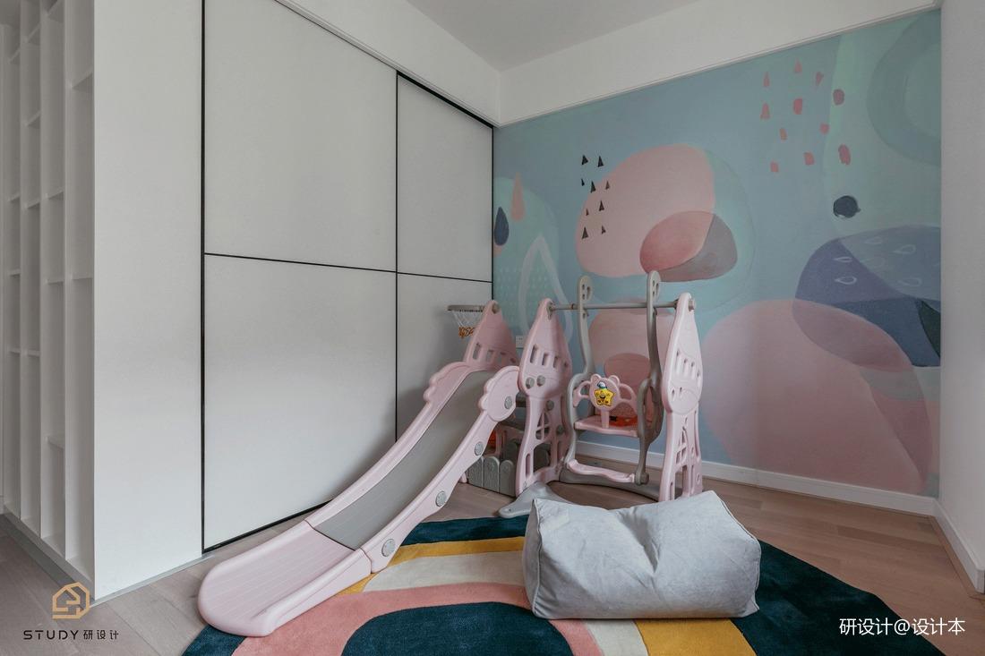 悠雅63平北欧二居儿童房装修图