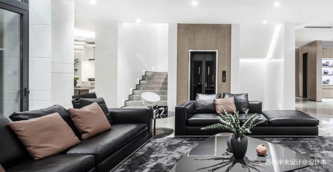 优美129平现代四居客厅装修效果图