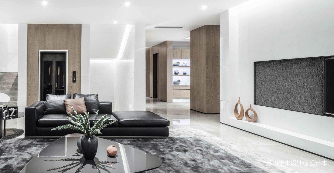 精致118平现代四居客厅装潢图