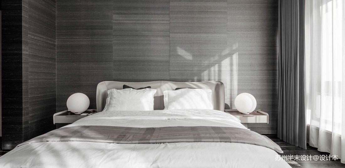 简洁122平现代四居卧室设计效果图