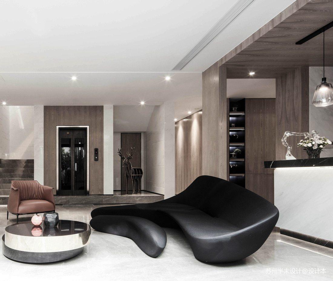 温馨103平现代四居休闲区装饰图片