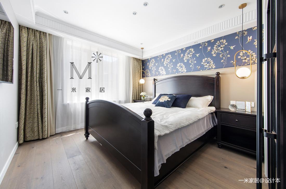 浪漫74平美式二居卧室实景图