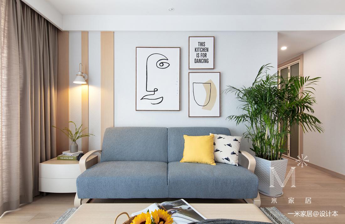 质朴117平日式二居客厅设计图