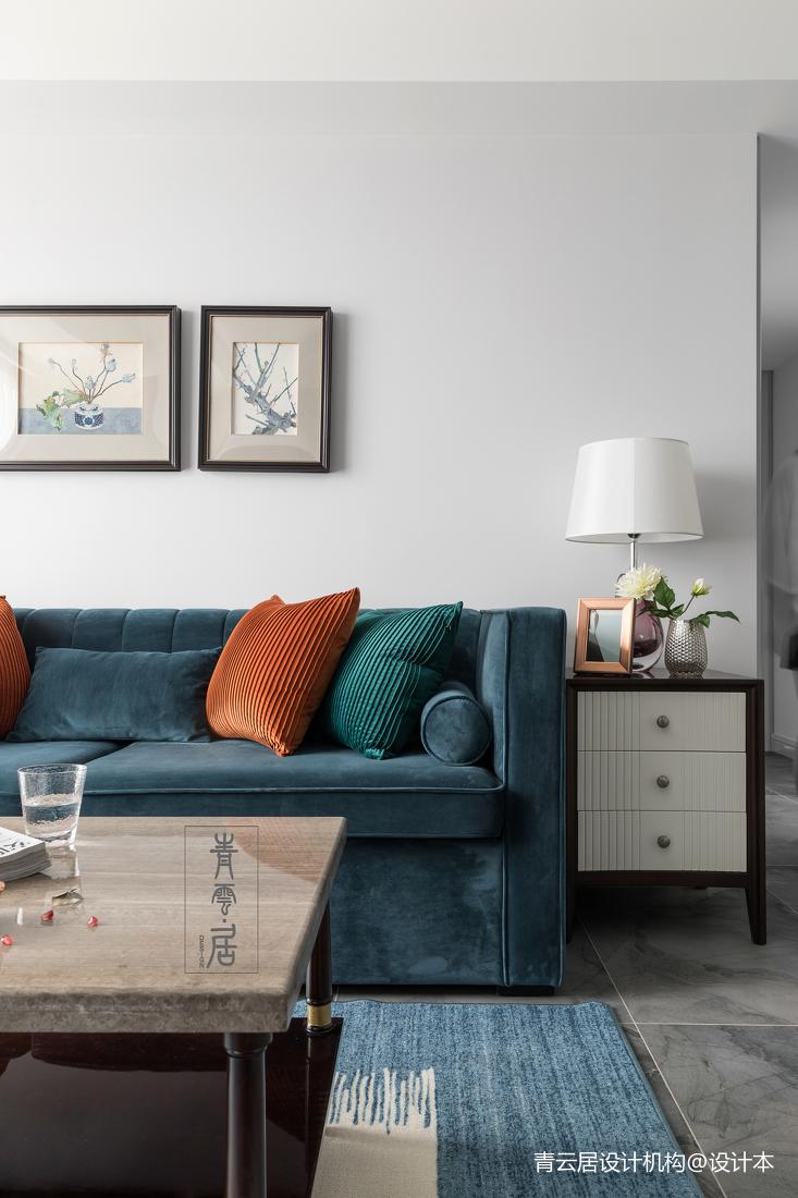 简洁90平美式三居客厅装修美图