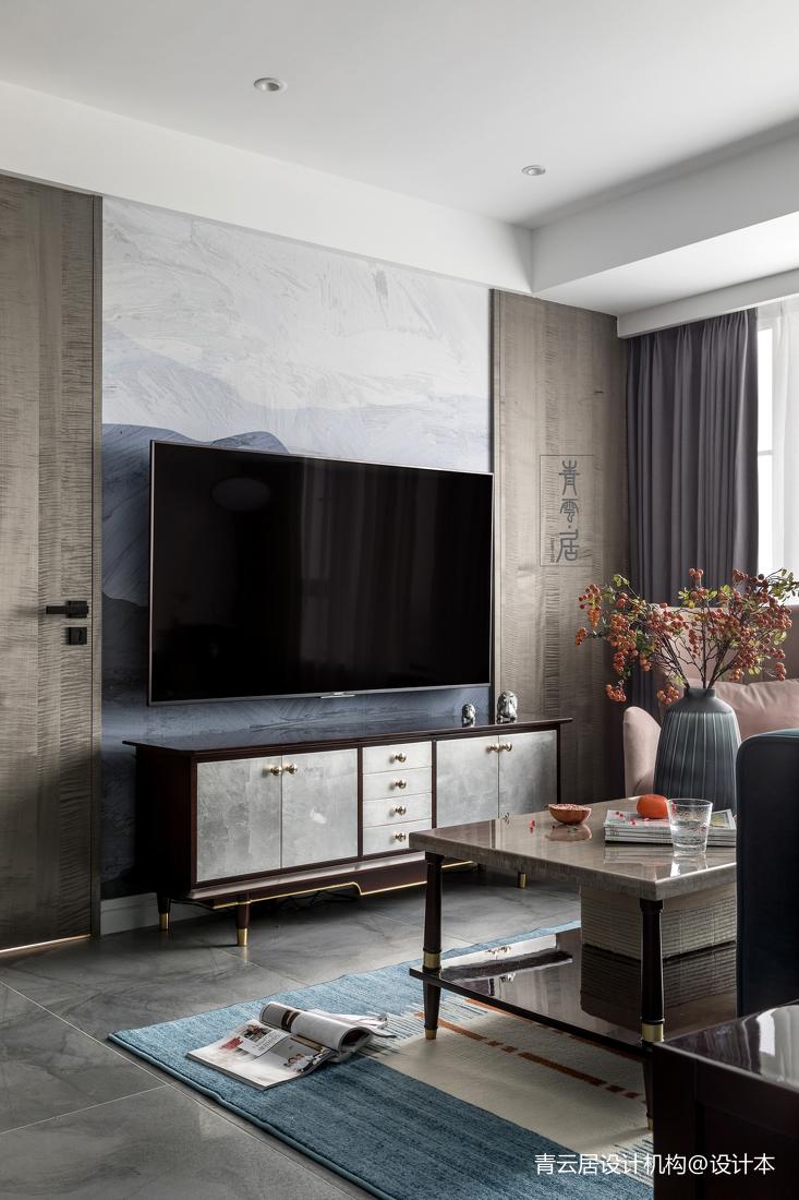 精美114平美式三居客厅装修图