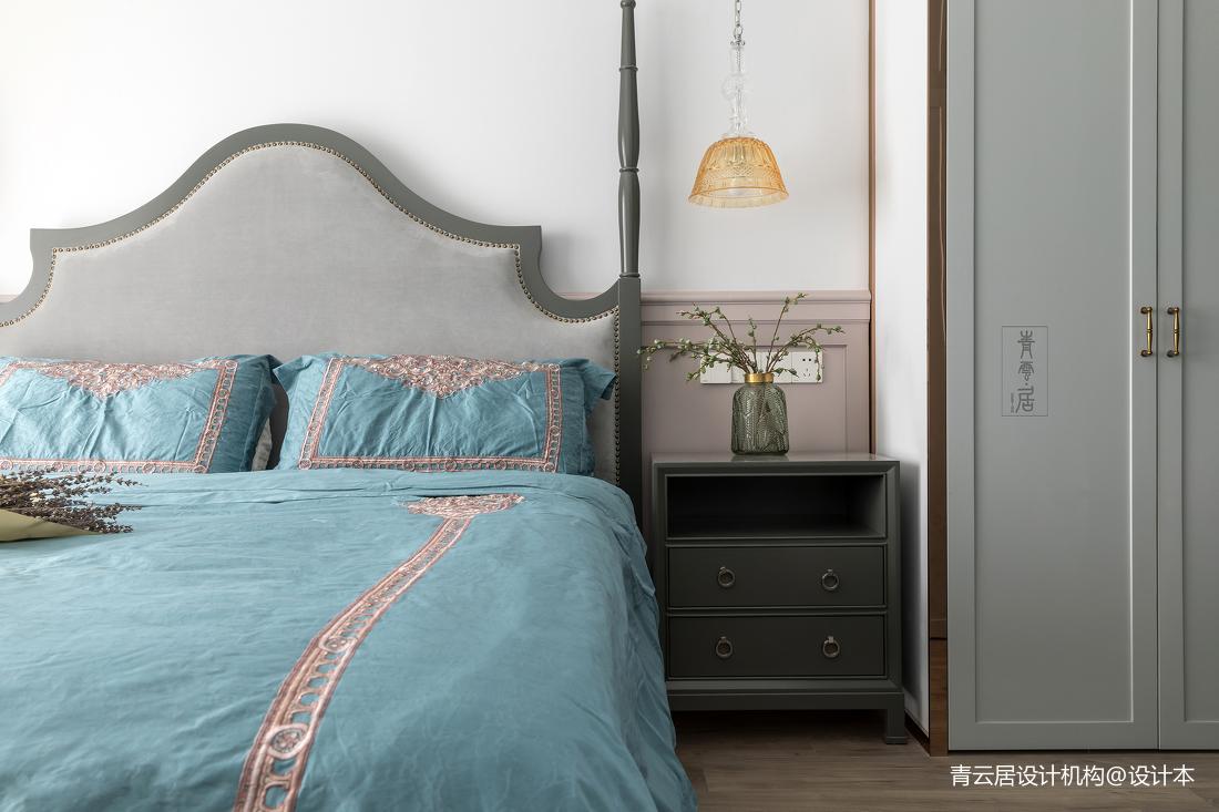 大气82平美式三居卧室装修图
