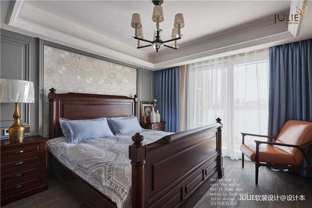 温馨129平美式四居卧室装修图