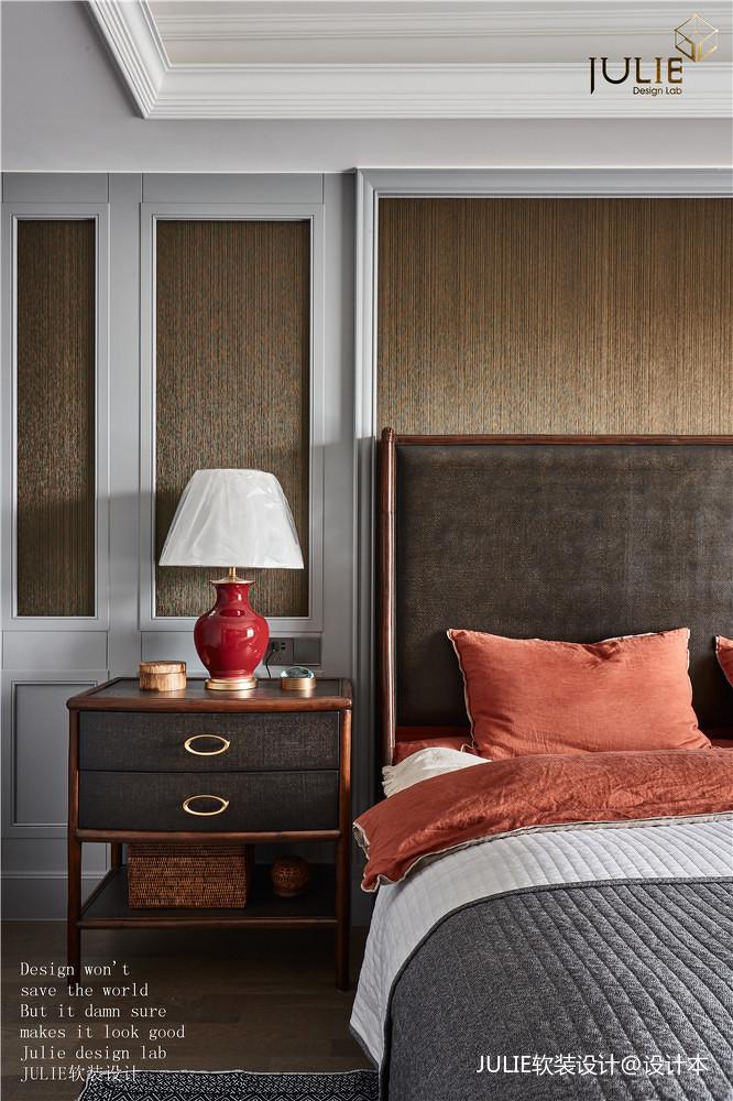 大气134平美式四居卧室装饰图片