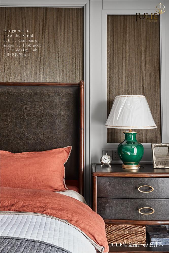 温馨150平美式四居卧室实景图