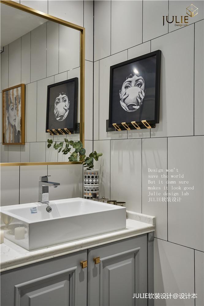 典雅147平美式四居卫生间装修美图