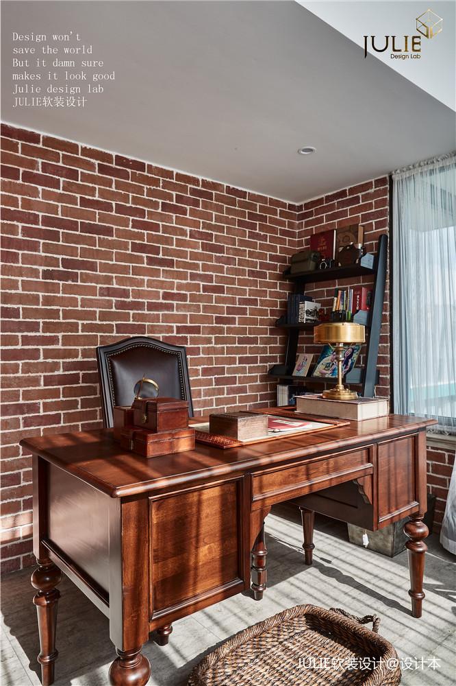 大气93平美式四居书房装修美图