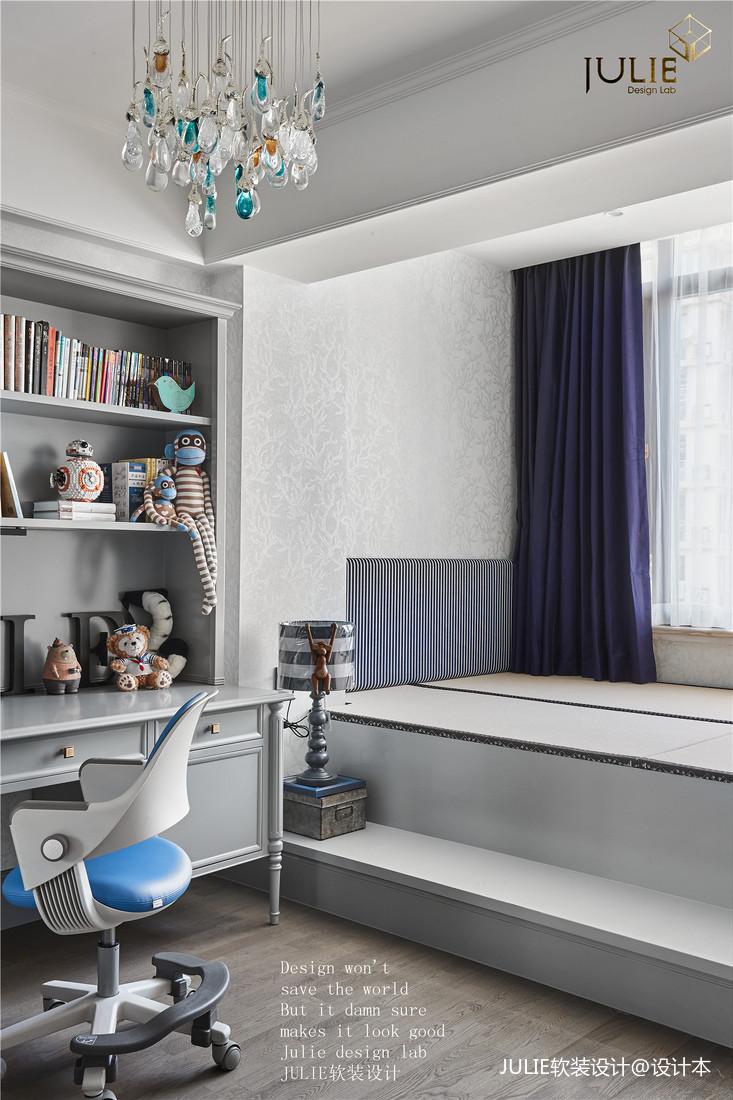 大气135平美式四居儿童房装饰图片