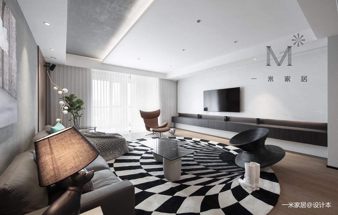 典雅114平北欧三居客厅效果图欣赏