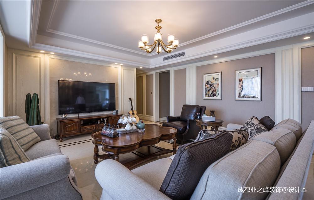 浪漫119平美式三居客厅装修美图