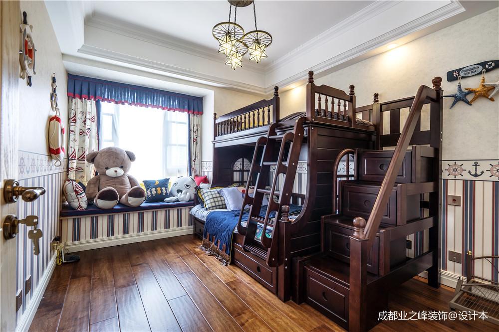 精美128平美式三居儿童房装修图