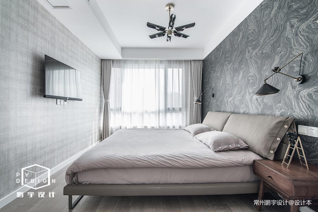 典雅108平北欧三居卧室装修美图