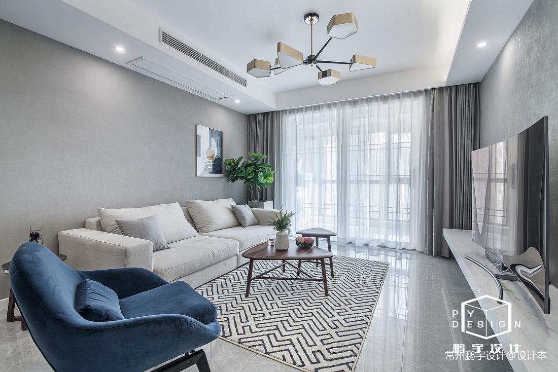 大气99平北欧三居客厅设计案例