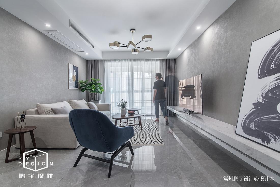 质朴81平北欧三居客厅装饰美图