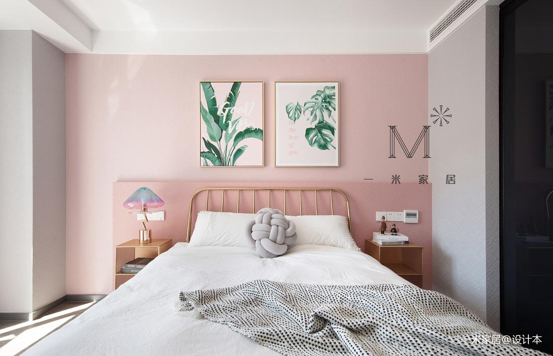 质朴129平现代三居卧室设计图