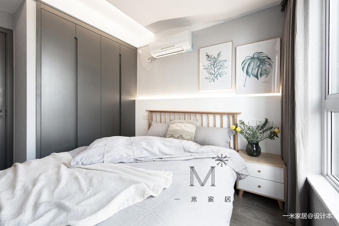 优雅86平现代三居卧室案例图