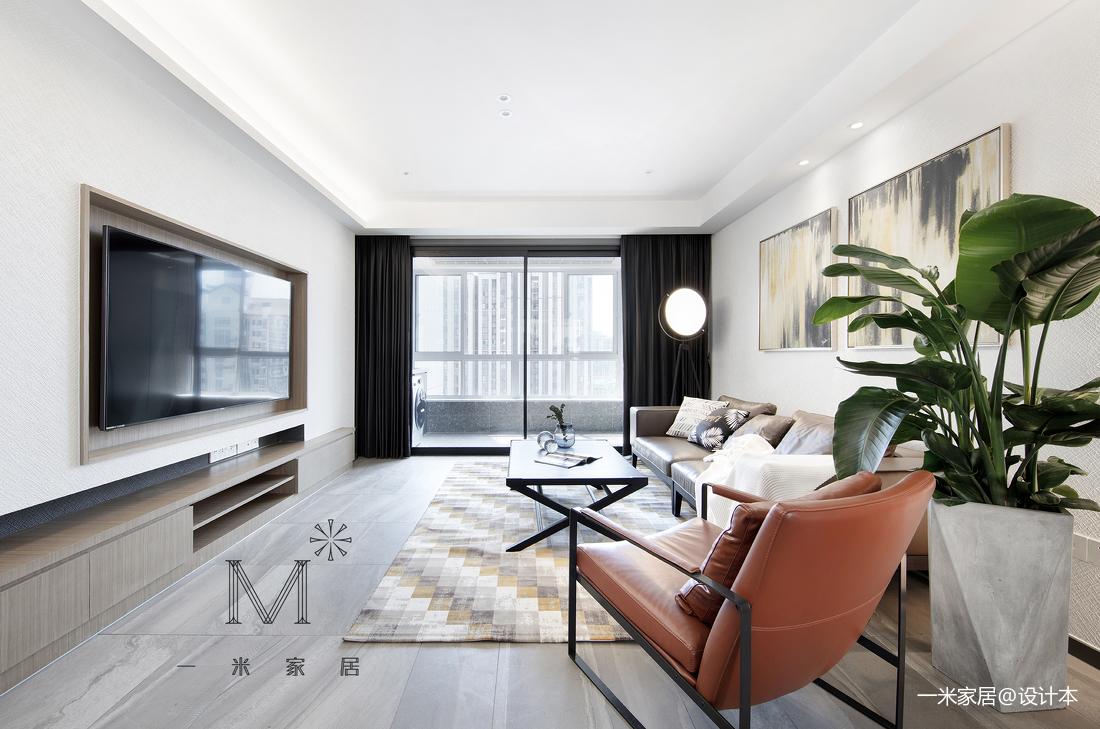 大气130平现代三居客厅装潢图