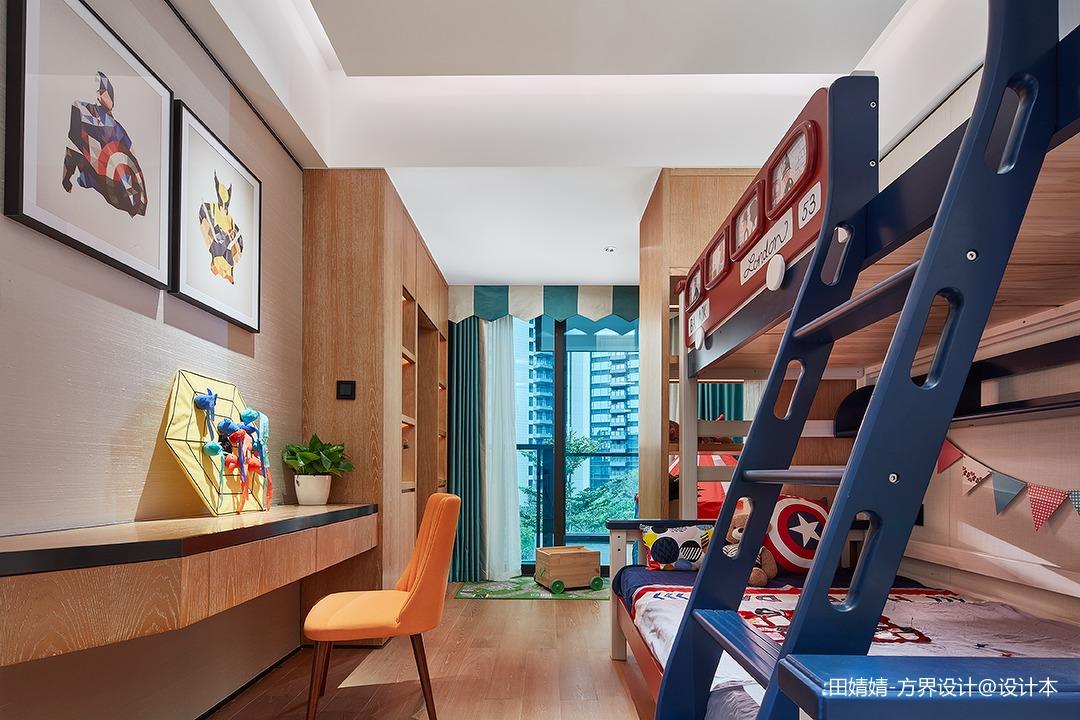 新中式素雅儿童房设计图片