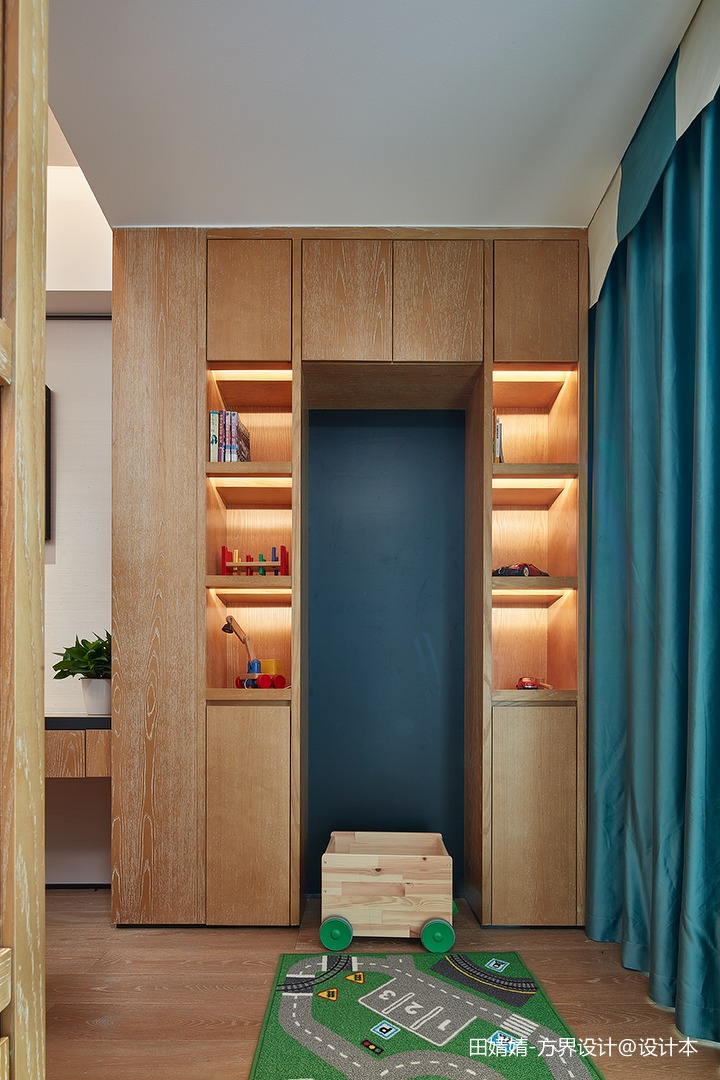 新中式素雅儿童房休闲区设计