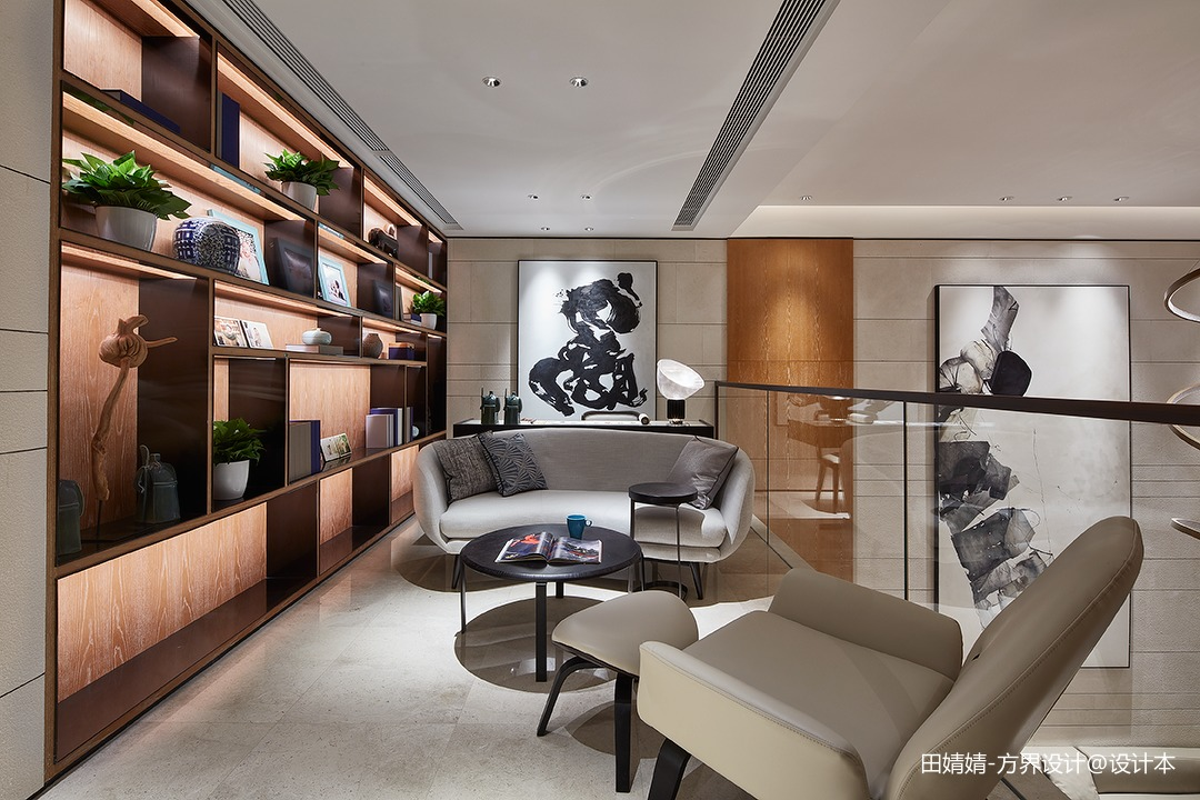 新中式素雅休闲区设计实景图