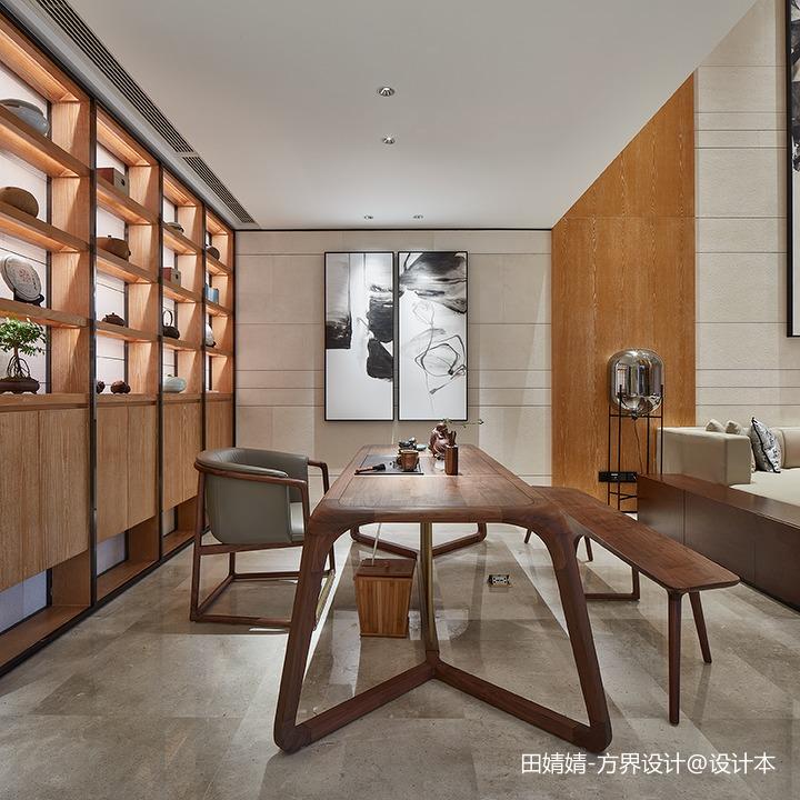 新中式素雅休闲区设计