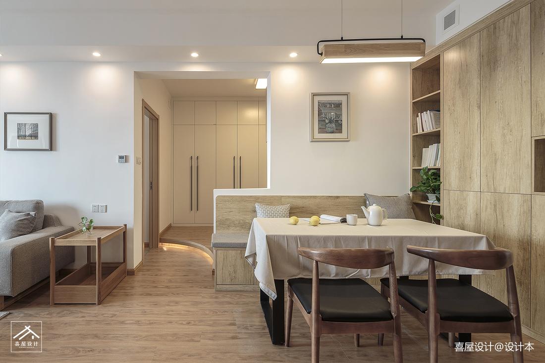 质朴50平日式二居餐厅装修图片
