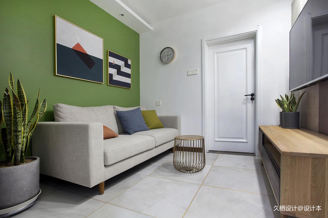 明亮24平北欧小户型客厅装修图片