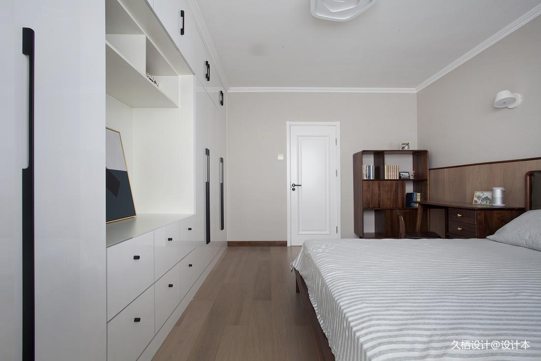 轻奢24平北欧小户型卧室实景图