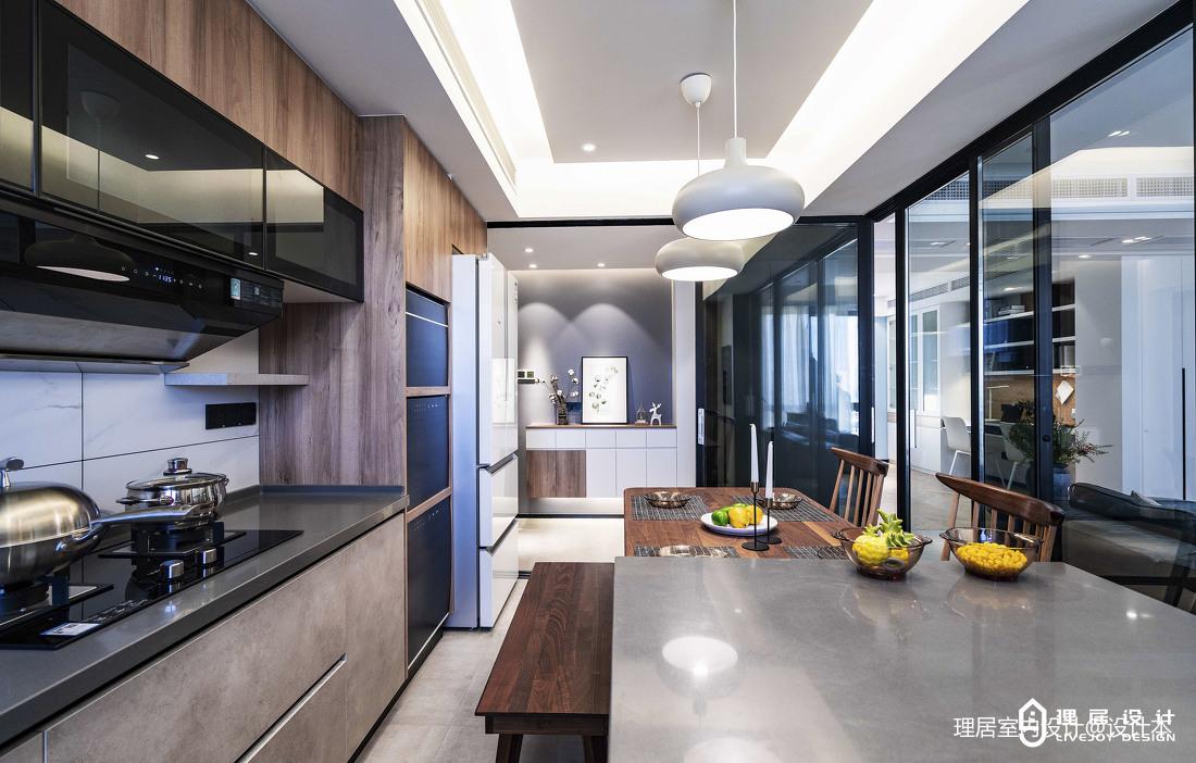 简洁123平北欧三居厨房实景图片