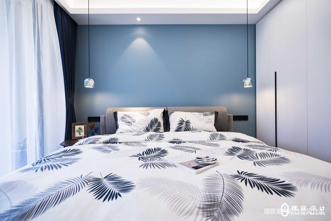 大气111平北欧三居卧室案例图