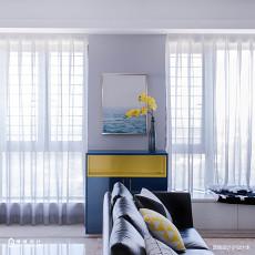 典雅87平现代三居客厅美图