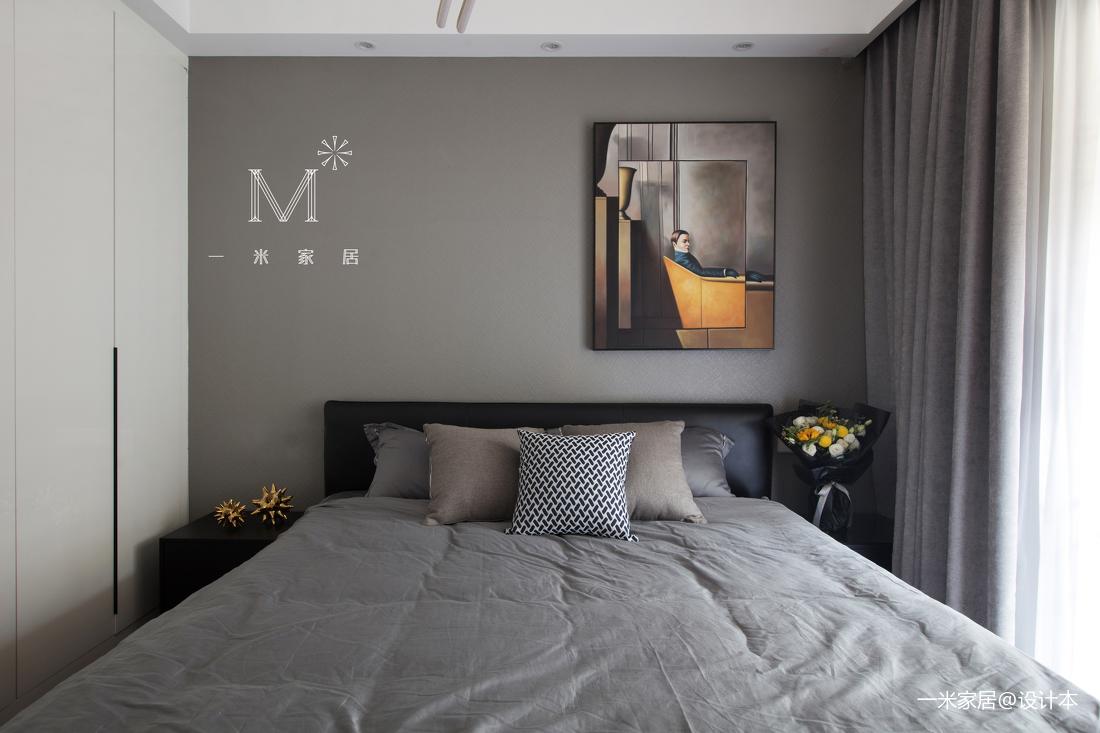 优美100平现代三居卧室装修设计图