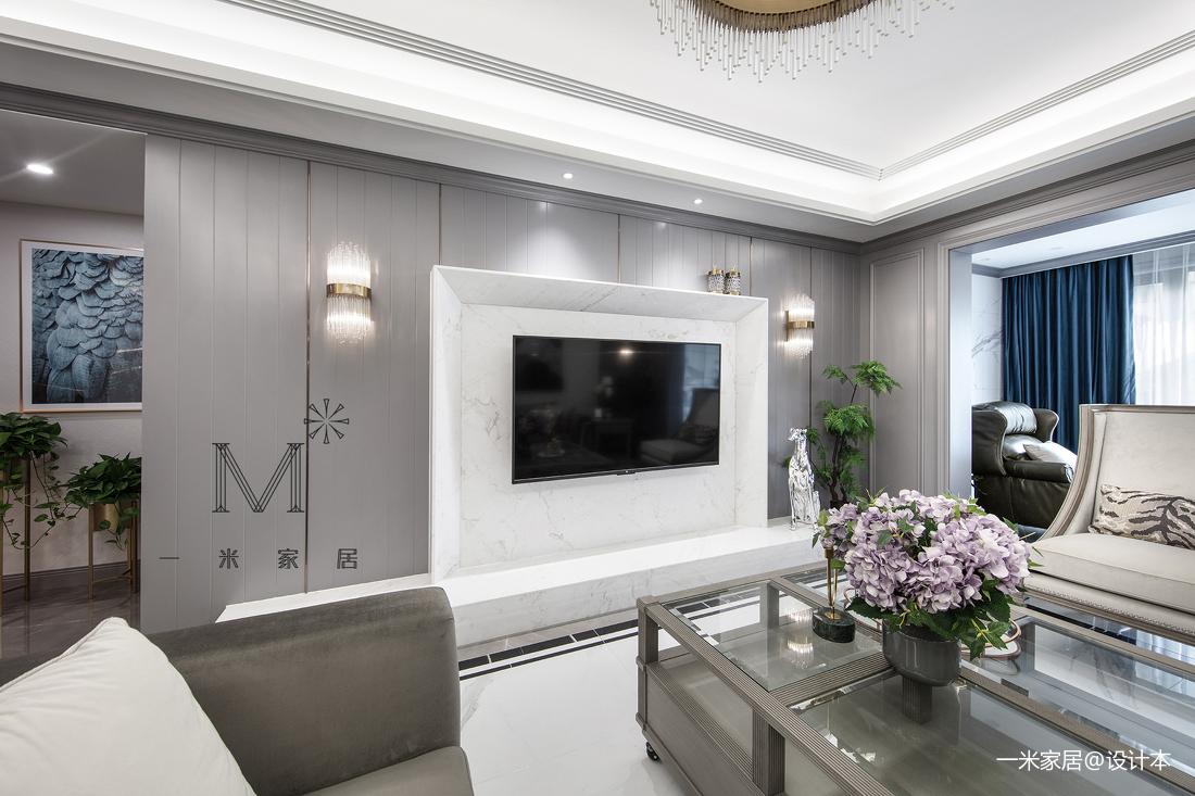 2019114平美式三居装修设计图