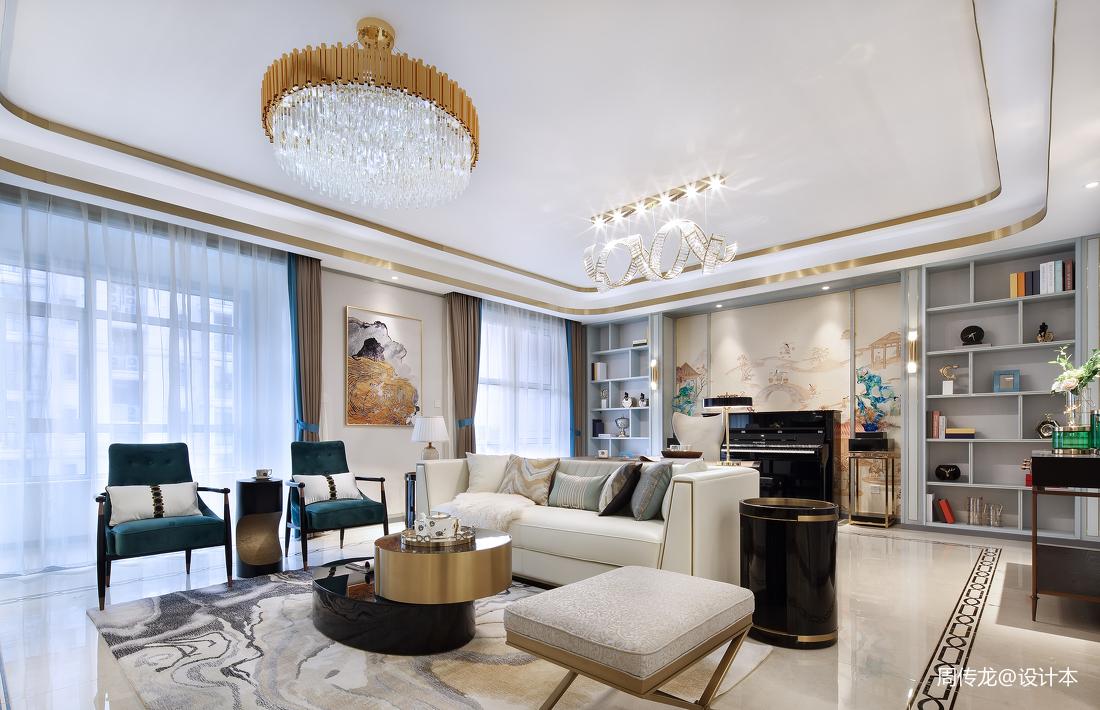 优美104平现代三居客厅效果图欣赏