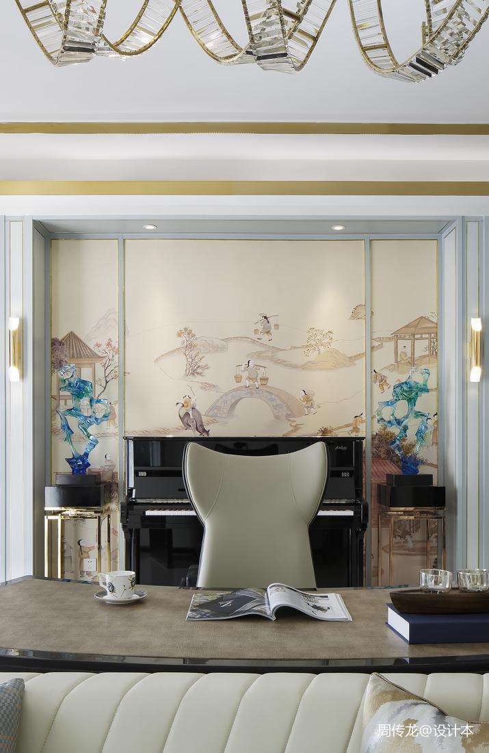 华丽123平现代三居客厅图片大全