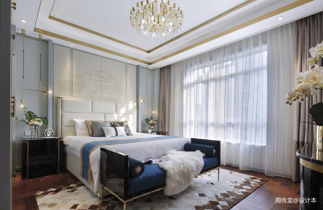 精致107平现代三居卧室实景图片