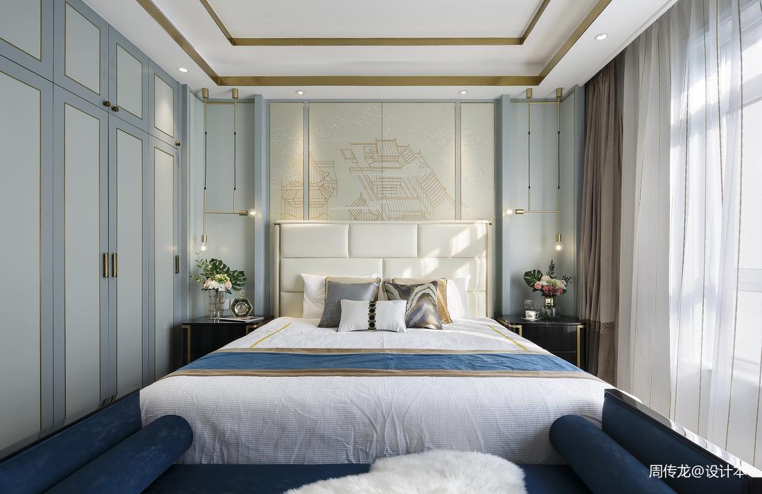 悠雅115平现代三居卧室图片欣赏