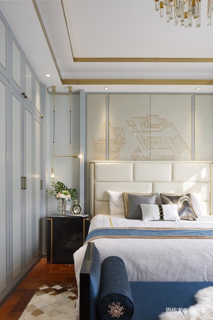 轻奢127平现代三居卧室装修美图