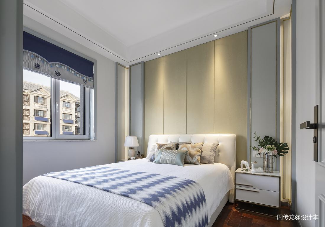 简洁72平现代三居卧室装潢图