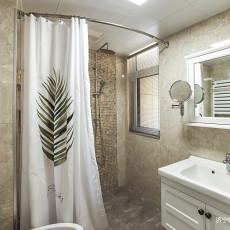 华丽84平美式三居卫生间装饰图