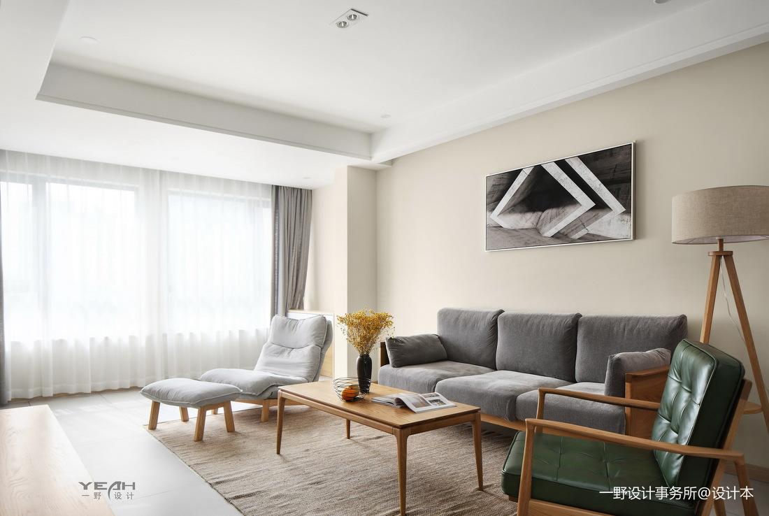 典雅86平日式三居客厅装修图