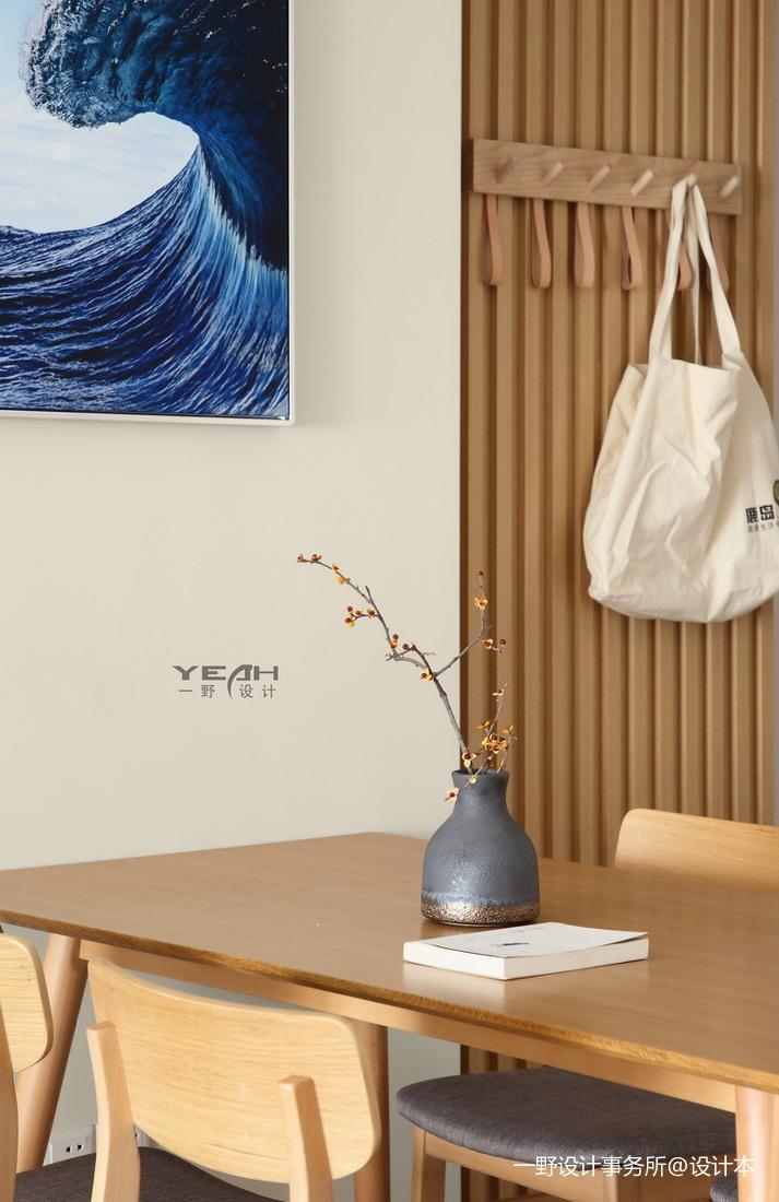 优美94平日式三居餐厅装修设计图